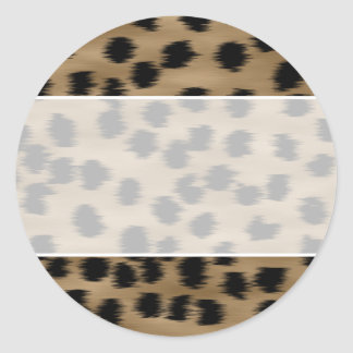 Black and Brown Cheetah Print Pattern. Classic Round Sticker