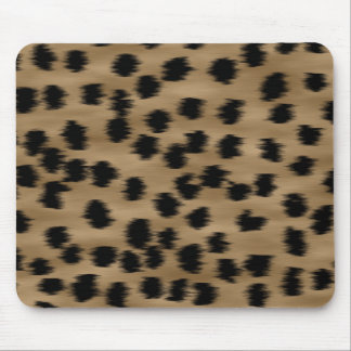 Black and Brown Cheetah Print Pattern. Mouse Mat