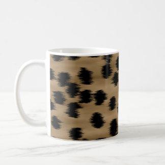 Black and Brown Cheetah Print Pattern. Basic White Mug
