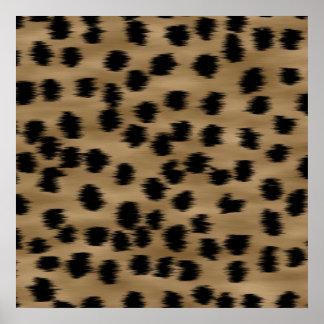 Black and Brown Cheetah Print Pattern