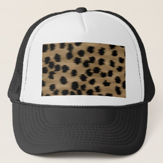 Black and Brown Cheetah Print Pattern. Trucker Hat