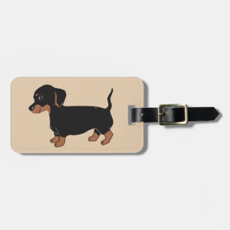 Black and Brown Dachshund Luggage Tag