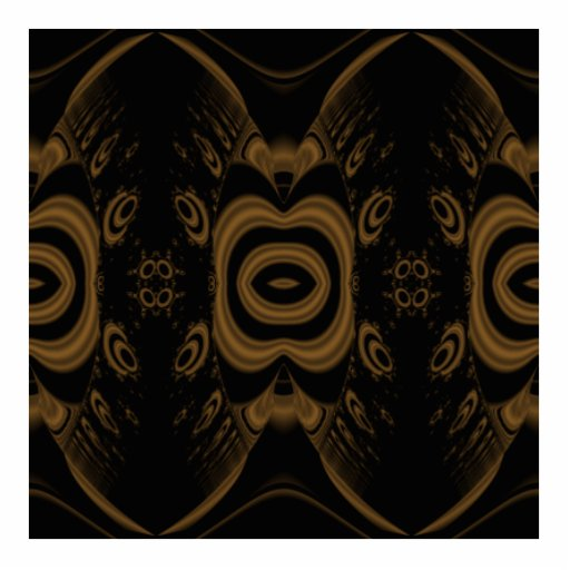 Black and Brown Floral Pattern Design. Acrylic Cut Out