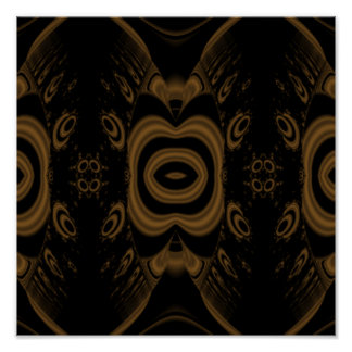 Black and Brown Floral Pattern Design. Poster