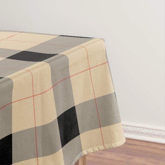 Black and brown Plaid / tartan pattern table