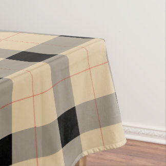 Black and brown Plaid / tartan pattern table cloth Tablecloth