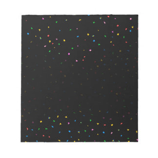 Black And Confetti Party Background Notepads