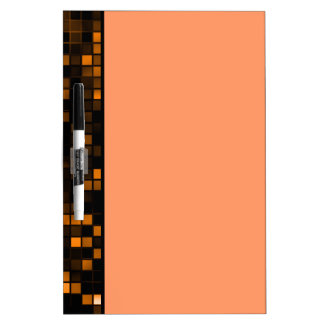 Black And Copper Meteor Shower Squares Pattern Dry Erase White Board