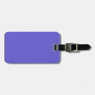 Black and Cornflower Blue Luggage Tag