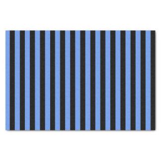 "Black and Cornflower Blue Stripes 10"" X 15"" Tissue Paper"