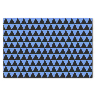 "Black and Cornflower Blue Triangles 10"" X 15"" Tissue Paper"