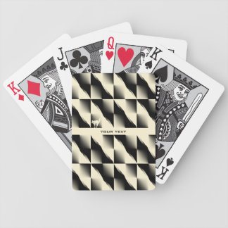 Black and Cream 3D Design Bicycle Playing Cards