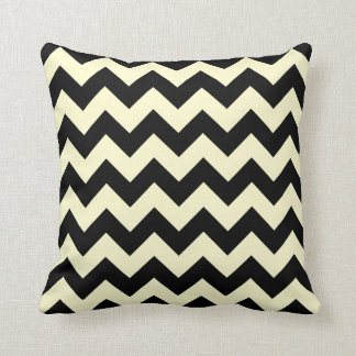 Black and Cream Chevron Zigzag Cushion