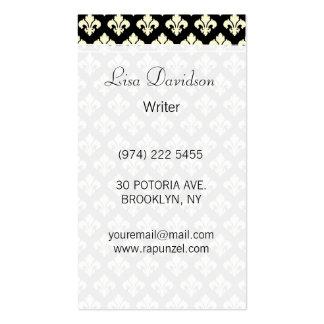 Black and cream fleur de lis pack of standard business cards
