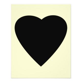 Black and Cream Love Heart Design. 11.5 Cm X 14 Cm Flyer