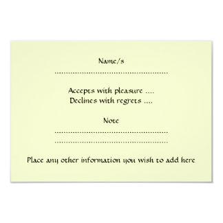 Black and Cream Love Heart Design. 9 Cm X 13 Cm Invitation Card