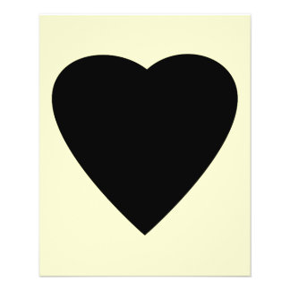 Black and Cream Love Heart Design. Flyer Design