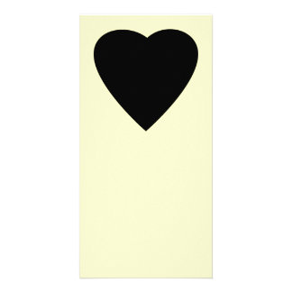 Black and Cream Love Heart Design. Photo Greeting Card
