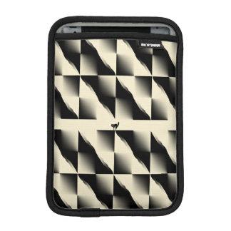 Black and Cream Squares iPad Mini Sleeve