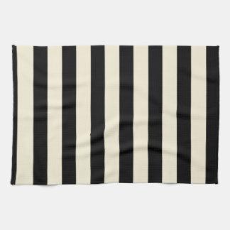 Black and Cream Stripes Hand Towel