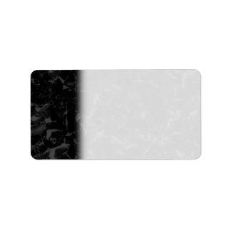 Black and Dark Gray Abstract Background Label