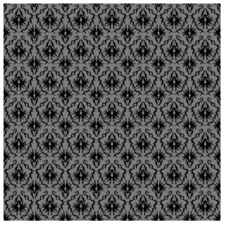 Black and Deep Gray Damask Design. Acrylic Cut Out