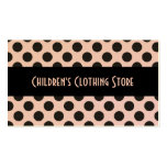 Black and Eggshell Polka Dots Cards Pack Of Standard Business Cards