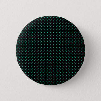 Black And Emerald Green Small Polka Dots Pattern 6 Cm Round Badge