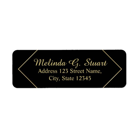 Black and Faux Gold Foil Elegant