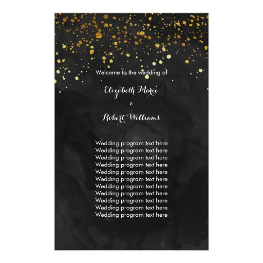 Black and Faux Gold Glitter Flyer