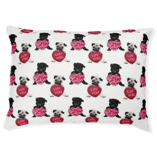 Black and Fawn Valentine Pugs