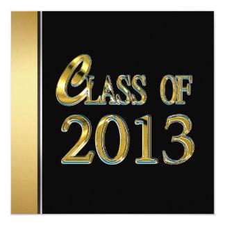 Black And Gold 2013 Graduation Invitations