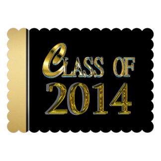 Black And Gold 2014 Graduation Invitations
