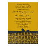 Black and Gold 50th Anniversary Invitations