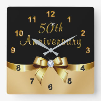 Black and Gold 50th Anniversary Presents, Clock