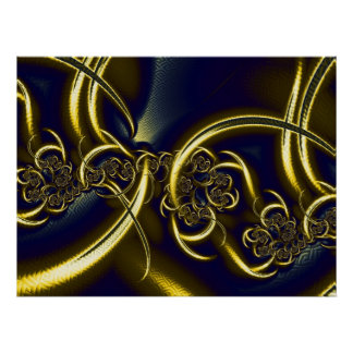 Black And Gold Abstract Art Poster