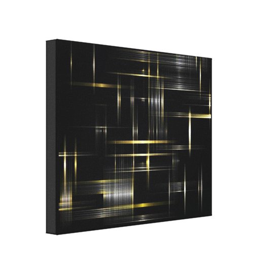 black and gold abstract canvas print