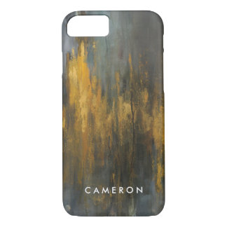 Black and Gold Abstract Print   Danhui Nai iPhone 8/7 Case