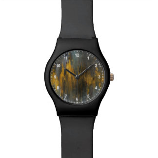 Black and Gold Abstract Print | Danhui Nai Watch