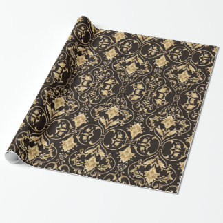 Black and Gold Baroque Wrapping Paper