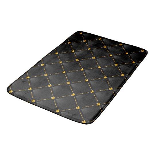 Black And Gold Bath Mat Zazzle Co Uk