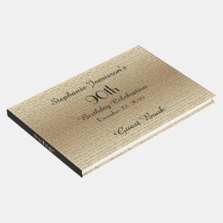 Black and Gold Birthday Party Memory/Guest Book