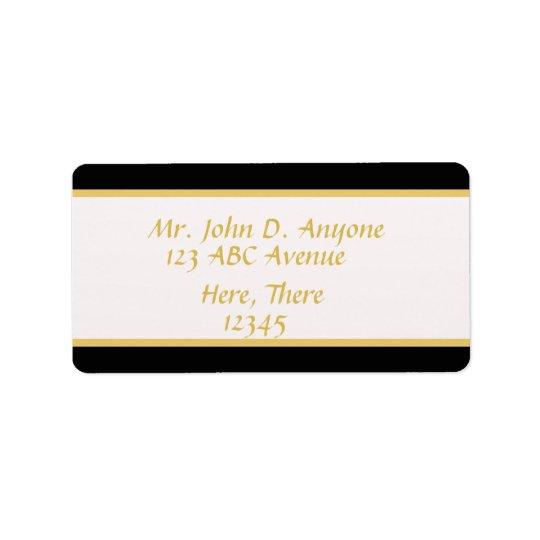 Black and Gold Border Address Label
