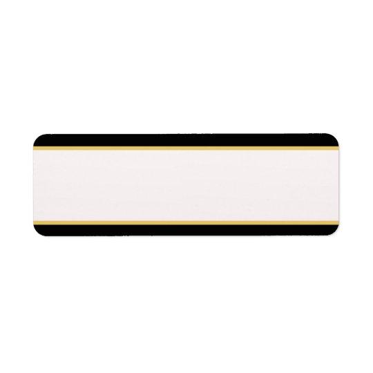 Black and Gold Border Return Address Label