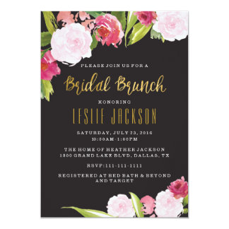 Black and Gold Bridal Brunch Shower Invitation