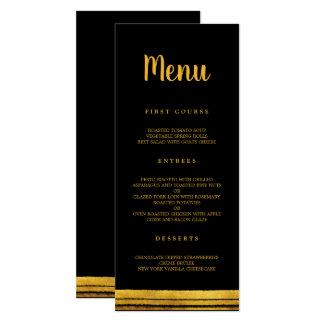 Black and Gold Brush Stroke Menu Card
