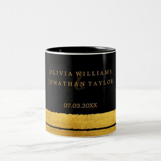 Black and Gold Brush Stroke Mug