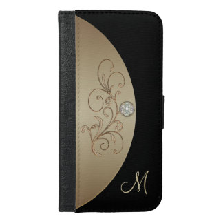 Black and Gold Celtic Monogram Wallet Case