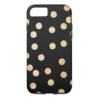 Black and Gold City Dots iPhone 7 Case
