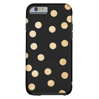 Black and Gold City Dots Tough iPhone 6 Case